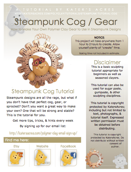 Steampunk Tutorial: How to Make Your Own Cog by KatersAcres
