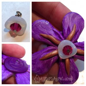 Simple Flower Tutorial - Adding the Center Bling by KatersAcres