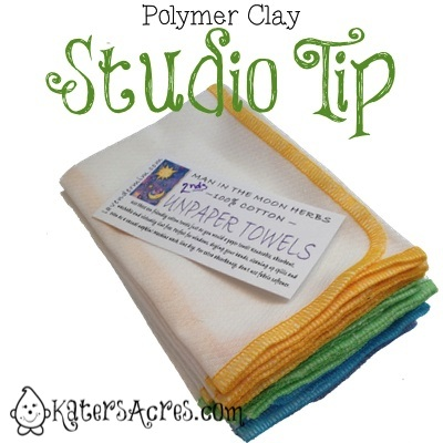 Polymer Clay Studio Tip - Using Reusable Cloths to Keep Your Studio Clean by KatersAcres