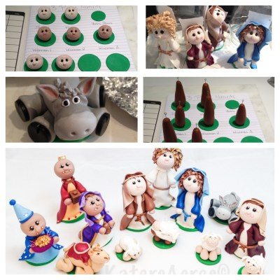 Nativity Set - 13 Pcs In Process by Katie Oskin