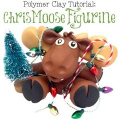 Polymer Clay ChrisMoose Figurine Tutorial by KatersAcres