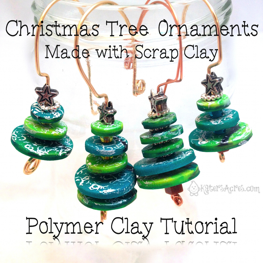Polymer Clay Christmas Ornament: Polymer Clay Christmas Tree Ornaments From Scrap Clay