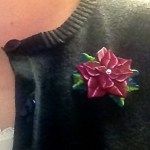 Caned Poinsettia Pin with Tutorial by KatersAcres