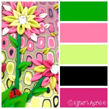 Color Palette: Where Pink & Green Collide by KatersAcres