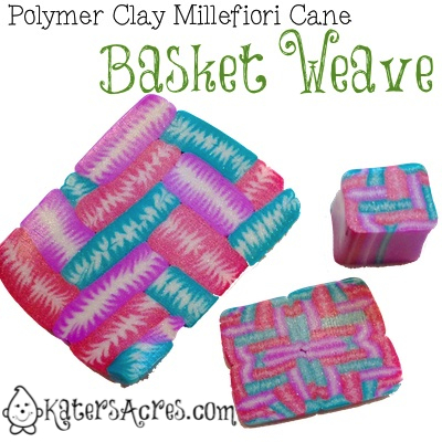 Polymer Clay Millefioiri Cane - BasketWeave by KatersAcres