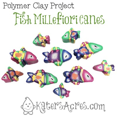 Polymer Clay Fish Millefiori Canes by KatersAcres