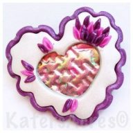 Holo Effects Heart Pin by KatersAcres