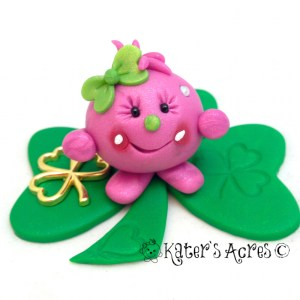 Saint Patrick's Day Lolly StoryBook Scene 2014 by KatersAcres | Limited Edition Collectible Handmade Figurine