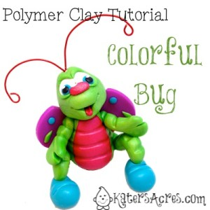 Polymer Clay Colorful Bug Tutorial by KatersAcres-imp