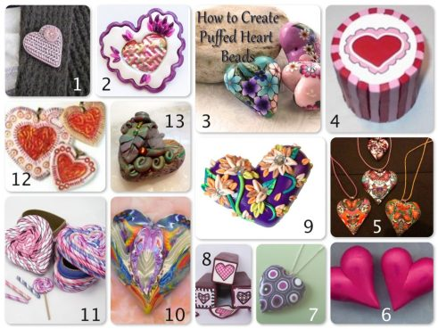 Valentine Heart Tutorials for Polymer Clay