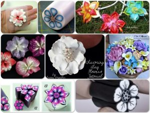 Polymer Clay Flower Tutorials & Inspiration | Links to flower tutorials from around the web on KatersAcres polymer clay blog
