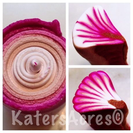 My Favorite Shortcut: 2 Petals Canes from 1 Skinner Blend by KatersAcres | WIP Wednesday post series, see what's new in my polymer clay studio