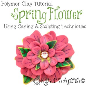Polymer Clay Caned Spring Flower by KatersAcres