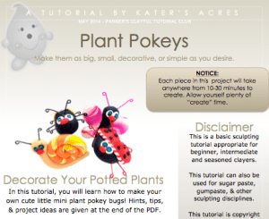 Parker's Clayful Tutorials Club: Plant Pokey Tutorial by KatersAcres