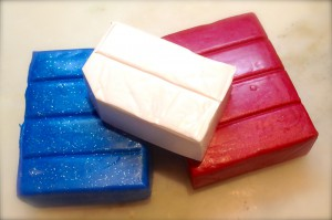 Patriotic Star Earrings, A Polymer Clay Tutorial by KatersAcres