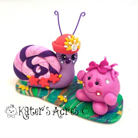 Lolly & Mrs. Snail StoryBook Scene by KatersAcres
