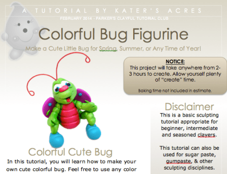 Colorful Bug Figurine Tutorial Screen Shot