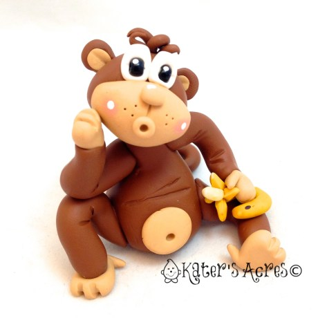 Polymer Clay Monkey by KatersAcres