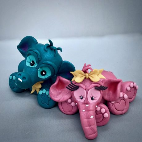 Polymer Clay Elephant Tutorial by Katie Oskin