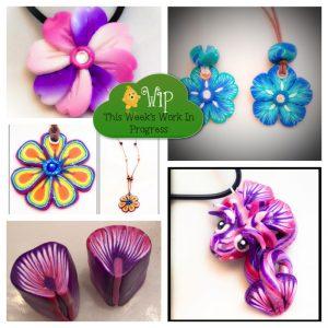 WIP Wednesday: A Flowery Week in KatersAcres Polymer Clay Studios