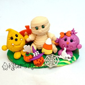 Halloween Parker, Lolly, & Mummy StoryBook Scene by KatersAcres