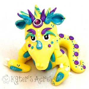 Gemmie, Polymer Clay Dragon by KatersAcres