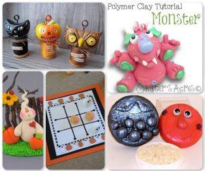 21 Halloween Polymer Clay Tutorials - Quad 1