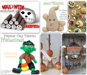 21 Halloween Polymer Clay Tutorials - Quad 2