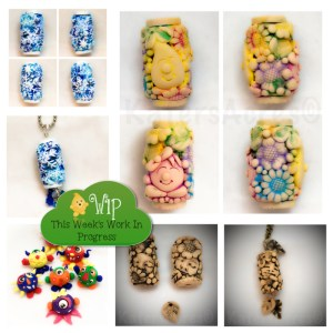 WIP Wednesday at Kater's Acres Polymer Clay Studio: Bead Crazy