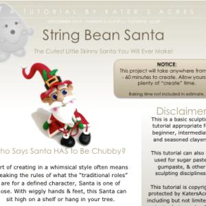 String Bean Santa Claus Polymer Clay Tutorial by KatersAcres