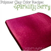 Polymer Clay Winter Blooms Color Recipe - Sparkling Berry