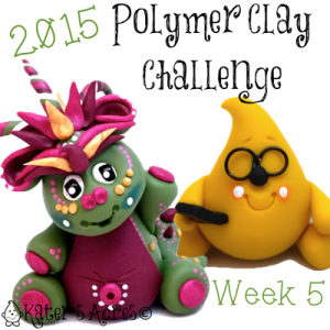 2015 Polymer Clay Challenge - Week 5 by KatersAcres | Meet Olivia & Hipster Parker