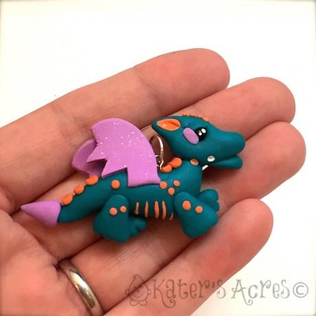 Flying Dragon Pendant Polymer Clay Tutorial by KatersAcres