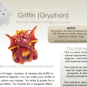 Griffin Polymer Clay Tutorial PREVIEW by KatersAcres