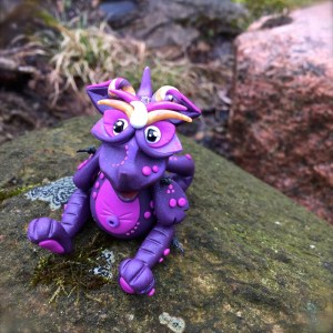 "Polymer Clay Dragon ""Masquerade"" by Katie Oskin of KatersAcres 