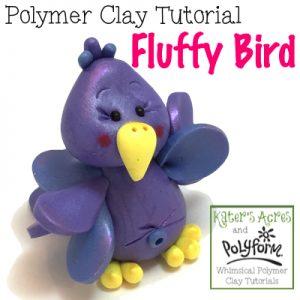 Polymer Clay Fluffy Bird Tutorial