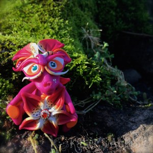 """Polymer Clay Dragon """"Lily"""" Handmade in NW Pennsylvania by Katie Oskin of KatersAcres 