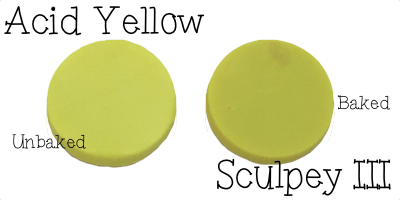 2015 Polyform Color Review - Sculpey Polymer Clay in Acid Yellow