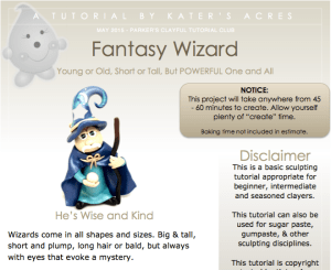 Polymer Clay Wizard Tutorial PREVIEW