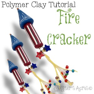 Polymer Clay FireCracker Tutorial by KatersAcres   Perfect for 4th of July, party celebrations, birthdays & much more!