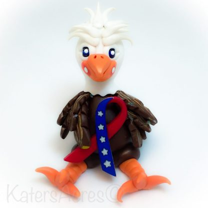 Polymer Clay American Bald Eagle by KatersAcres