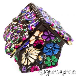 Polymer Clay Birdhouse by KatersAcres | FREE Tutorial to make your own birdhouse