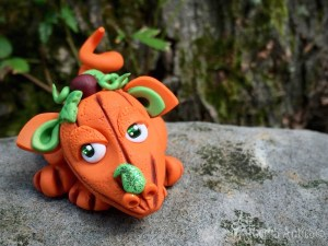 Polymer Clay Dragon PUP by KatersAcres