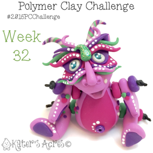 2015 Polymer Clay Challenge, Week 32 by KatersAcres | #2015PCChallenge
