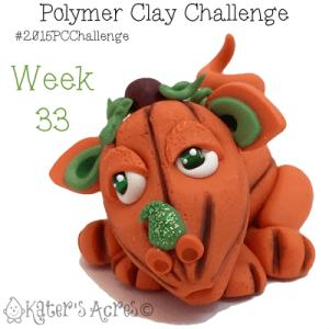 2015 Polymer Clay Challenge, Week 33 by KatersAcres | #2015PCChallenge
