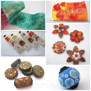 Top 5 Polymer Clay Surface Treatments with Debbie Crothers --- ACRYLIC PAINT| CLICK to see 5 awesome surface design techniques for polymer clay