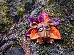Polymer Clay Dragon LEAFY by Katie Oskin of KatersAcres