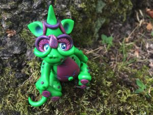 "Polymer Clay Dragon ""Precious"" by Katie Oskin of KatersAcres, Ready for Adoption on Etsy"