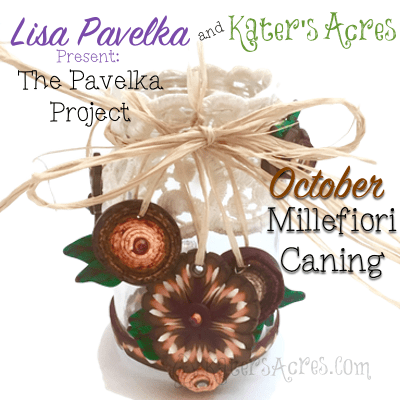 Fall Polymer Clay Tutorial, Festive Masor Jar Centerpiece using Millefiori Canes | October Pavelka Project