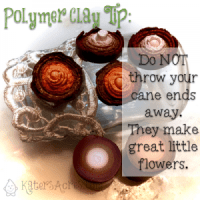 Polymer Clay Tip - Keep Your Cane Ends | Fall Polymer Clay Mason Jar Table Centerpiece Tutorial by KatersAcres